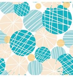 Texture circles abstract seamless pattern vector image