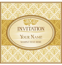 vintage background and frame with sample text vector image vector image