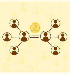 zcash cryptocurrency concept vector image vector image