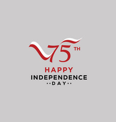 75 years indonesian independence day banner vector
