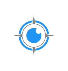 Abstract eye compass logo concept icon vector