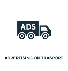advertising on trasport icon premium style design vector image