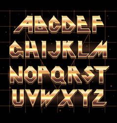 Alphabet 80 s retro font vector