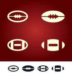 American football sign vector image