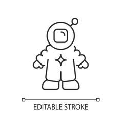 astronaut linear icon vector image