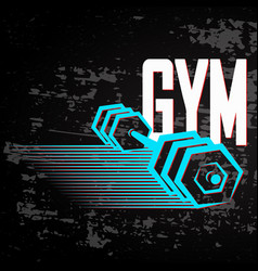 banner for gym vector image