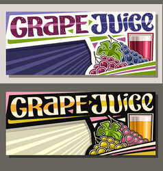 Banners for grape juice vector