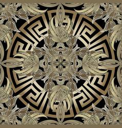 Baroque 3d gold seamless pattern greek vector
