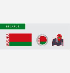 Belarusian flag is horizontally isolated vector