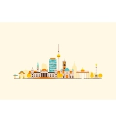 Berlin abstract skyline vector