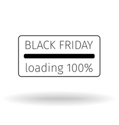 black friday leaflet progress loading bar vector image