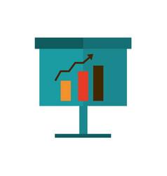 board presentation statistics diagram profit vector image