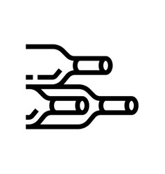 bottle wine wine line icon winery vector image