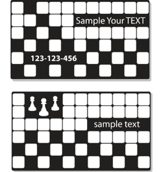 business cards with chess vector element vector image