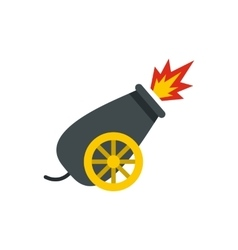 Cannon in the circus icon flat style vector
