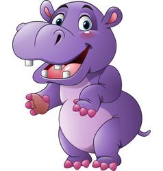 cartoon funny hippo vector image