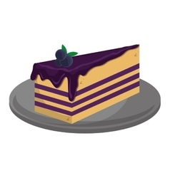 cheesecake slice icon vector image