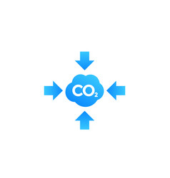 Co2 carbon emissions reduction icon vector