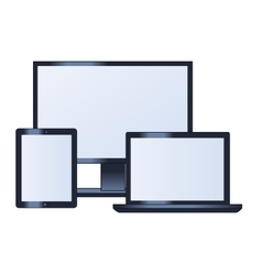 Computer monitor laptop and tablet vector