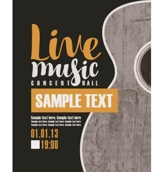 Concert live music with a guitar vector