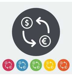 Currency exchange single flat icon vector image