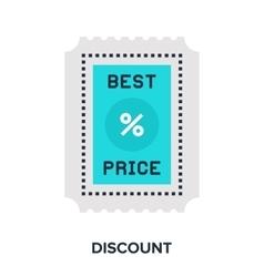 discount flat concept vector image