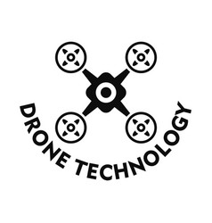 Drone technology logo simple style vector