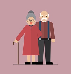 Elderly senior age couple vector image