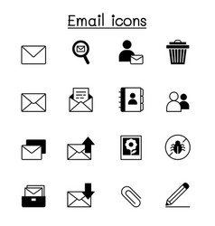 email icon set graphic design vector image