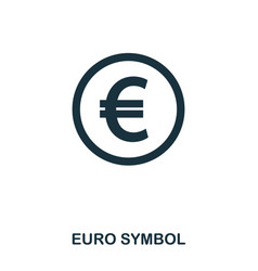 euro symbol icon mobile app printing web site vector image
