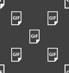 File GIF icon sign Seamless pattern on a gray vector