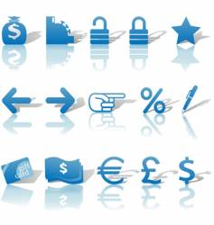 finance website icons vector image