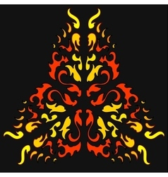 Fire Khokhloma Native Ornament vector image
