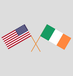 Flags of usa and ireland vector