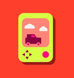 Flat icon design collection portable game in vector