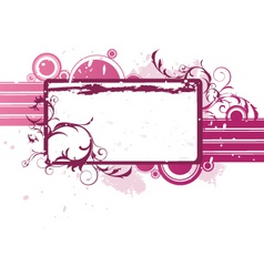 floral banner graphic vector image
