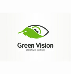 green organic vision fresh view creative symbol vector image