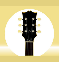 Guitar headstock and tuners vector