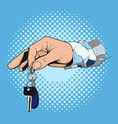 hand giving the key vector image