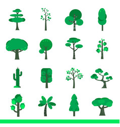 iicon set of green trees vector image