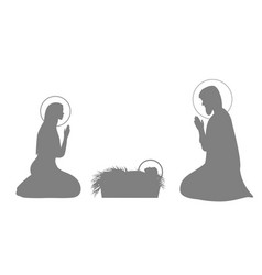 jesus christ story set with mary vector image