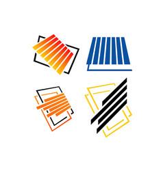 Laminate tile parquet flooring logo design vector