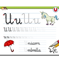 Learn to write letter u vector