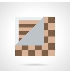 Linoleum flooring flat color icon vector