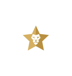 lion star logo icon design vector image
