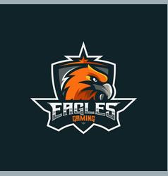 Logo eagle e sport and sport style vector