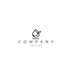 Logo on which an abstract image a drop vector
