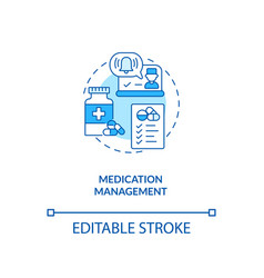 Medication management concept icon vector
