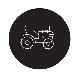 mini tractor black concept icon mini vector image