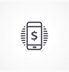 mobile transaction vector image